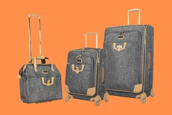 Nicole Miller 3 Piece Softside Luggage