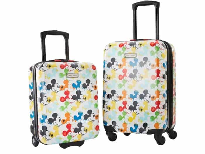 american tourister disney hardside luggage with spinner wheels mickey mouse 2